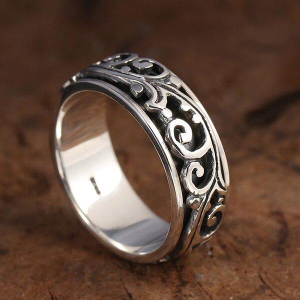 Sterling Silver Arabesque Spinner Ring