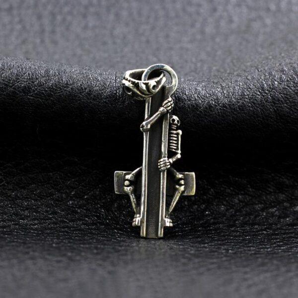 Skeleton Cross Pendant Necklace
