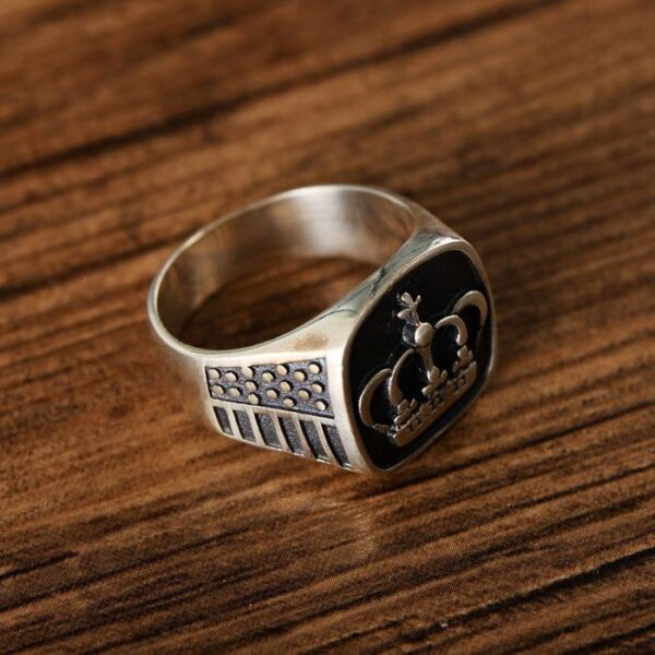 Mens Crown Ring