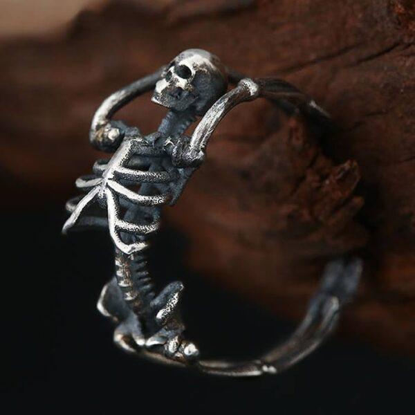 Silver Skeleton Ring