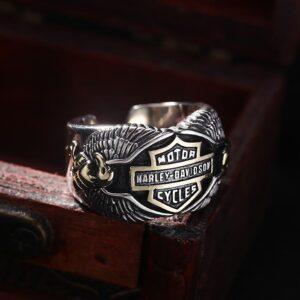 Motorcycle Biker Eagle Ring