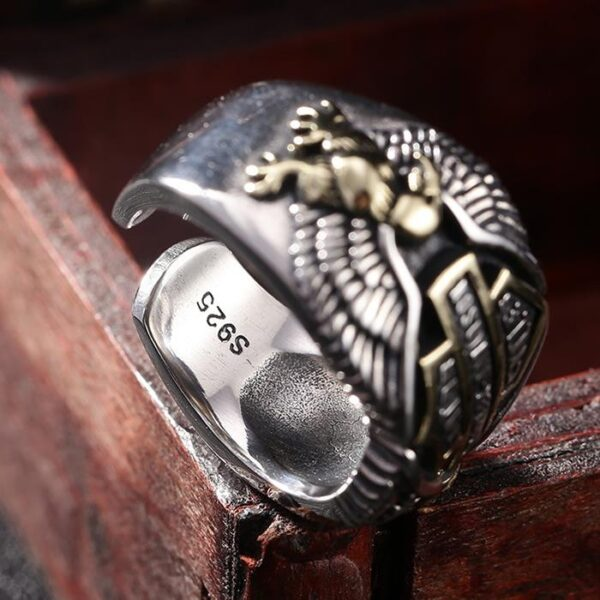 Motorcycle Biker Eagle Ring