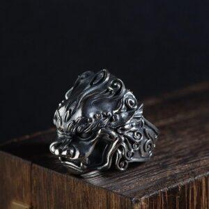Silver Monster Ring