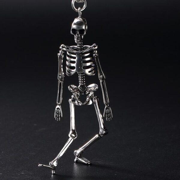 Silver Skeleton Pendant Necklace