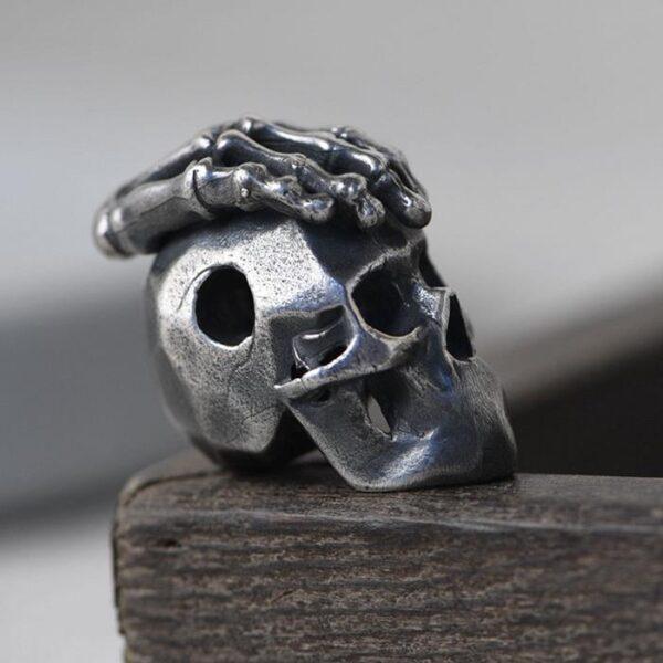 Silver Skull Hand Charm