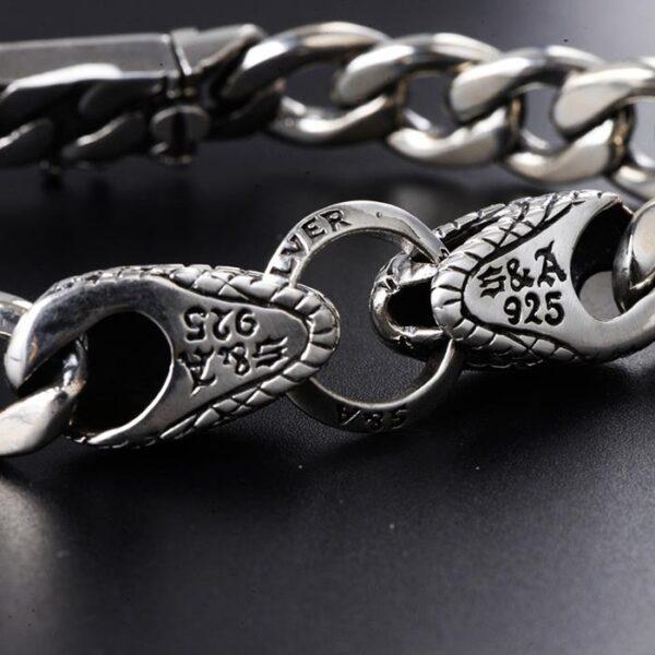Snake Curb Chain Bracelet