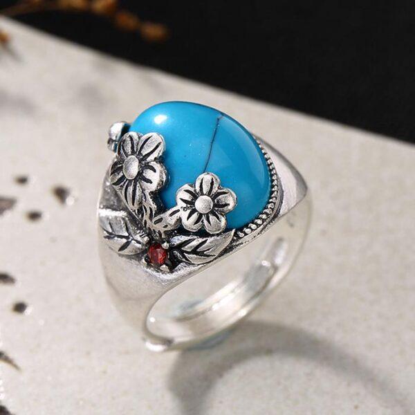 Women's 990 Silver Flower Ring