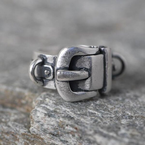 990 Silver Belt Buckle Ring