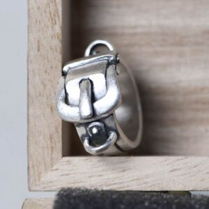 990 Silver Belt Buckle Ring