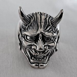 Hannya Mask Demon Ring