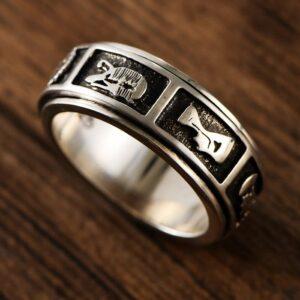 Sterling Silver Fidget Spinner Ring