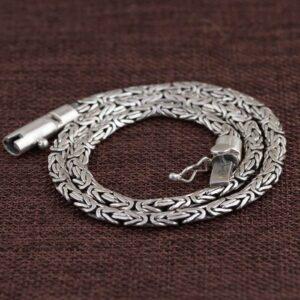 Heavy Byzantine Link Chain Necklace