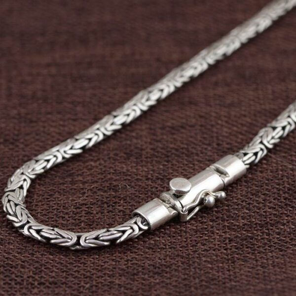 Heavy Byzantine Link Chain Necklace