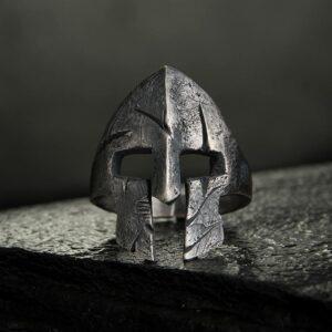 999 Fine Silver Spartan Helmet Ring