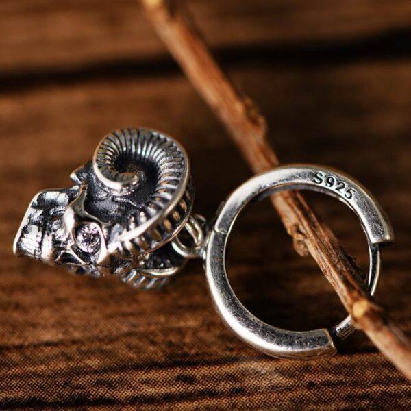 Baphomet Skull Drop Earrings