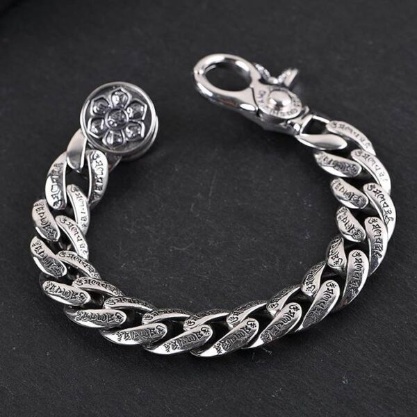 Chunky Buddhist Mantra Bracelet