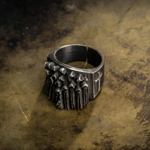 Silver Christian Ghost Ring