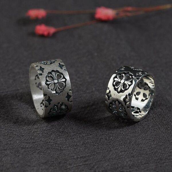 Fleur De Lis Cross Band Ring