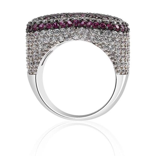 Heart CZ Iced Out Ring