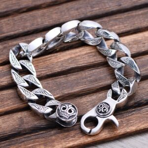 Men's Silver Chunky Curb Chain Bracelet