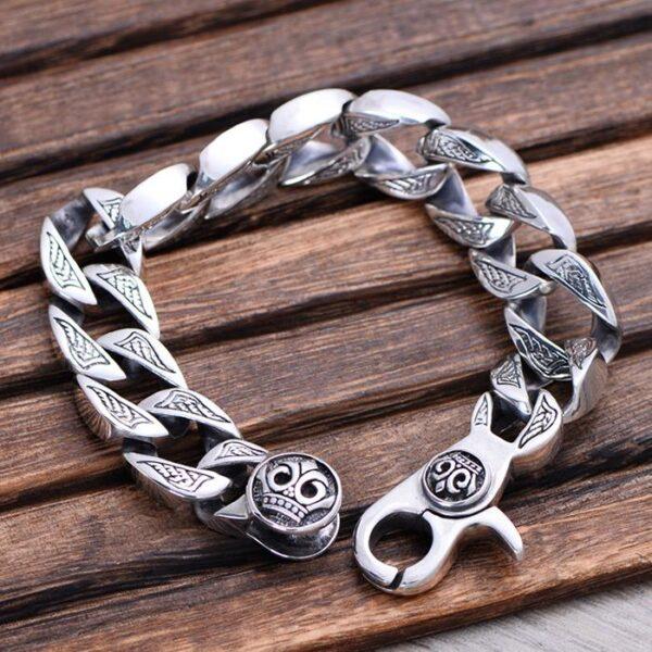 Men's Silver Chunky Curb Chain Bracelet