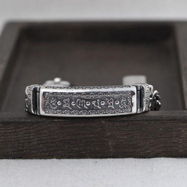 Silver Byzantine Chain Id Bracelet
