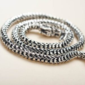 Silver Dragon Chain Necklace