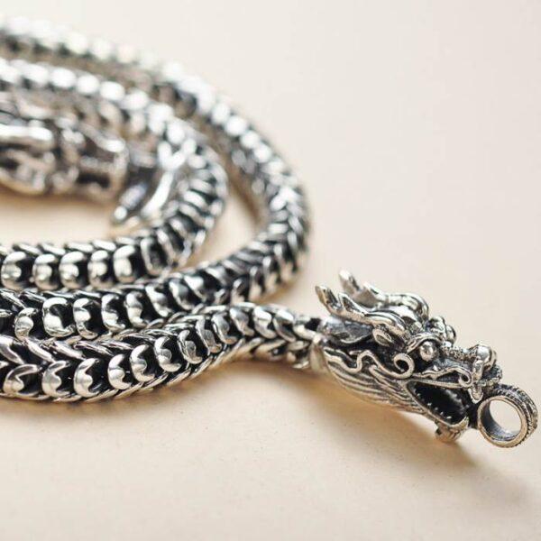 Silver Dragon Chain Necklace