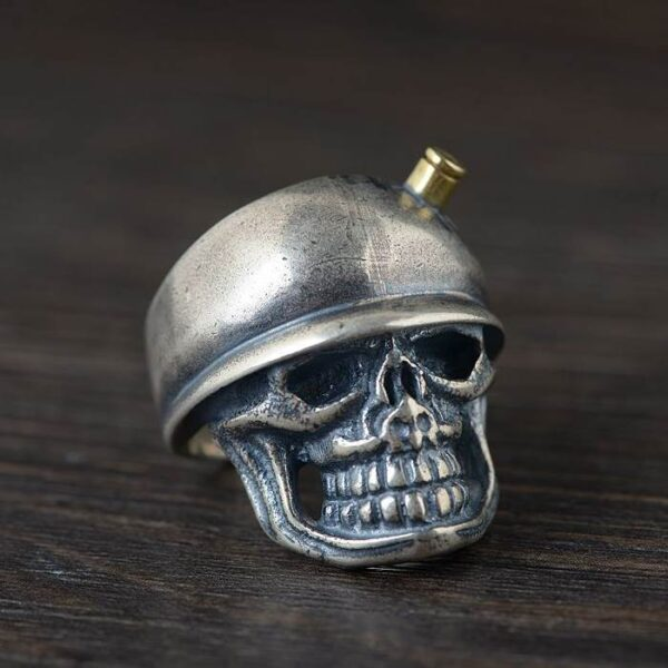 Military Skull Army Adjustable Ring