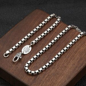 Square Box Chain Necklace