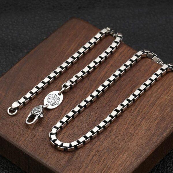 Square Box Chain Necklace