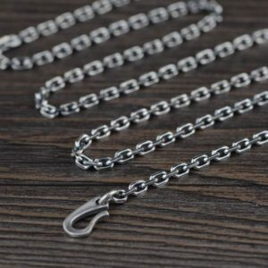 "Sterling Silver 18"" - 32"" Cable Chain Necklace 3mm"