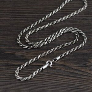 "Sterling Silver 18"" - 32"" Rope Chain Necklace"