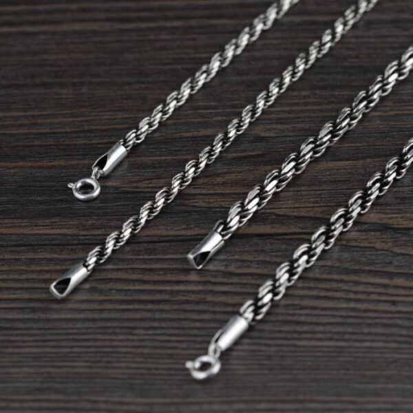 """Sterling Silver 18"""" - 32"""" Rope Chain Necklace"""