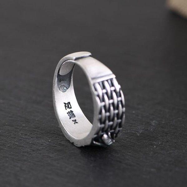 Women's 990 Silver Cicada Woven Ring