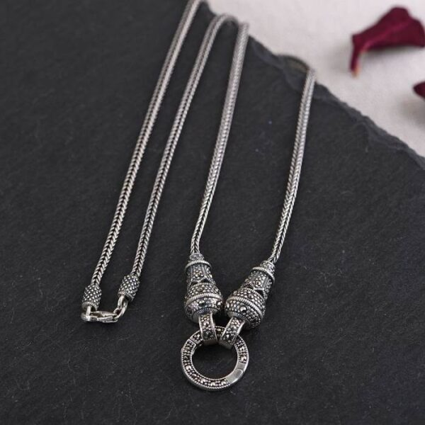 """18"""" - 32"""" Foxtail Chain Necklace in Sterling Silver"""