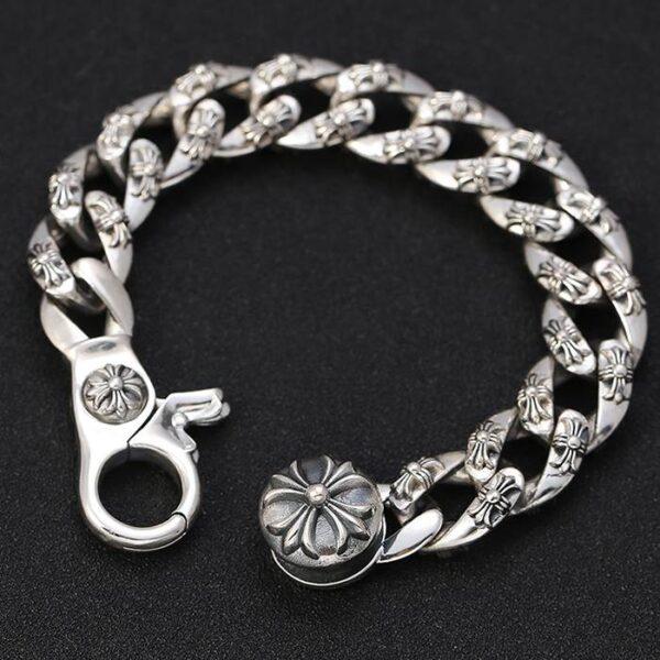 Bold Thick & Heavy Cross Bracelet