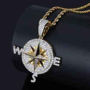 Compass Iced Out Necklace