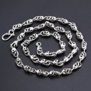 Men's All Skull Links Chain Necklace