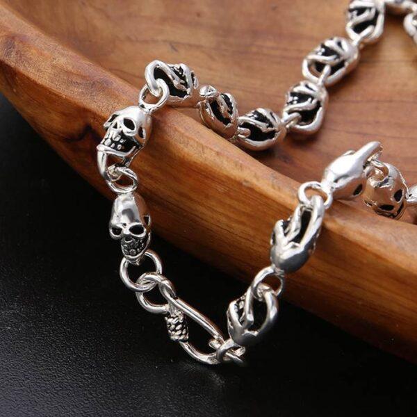 Men's All Skull Links Chain Necklace