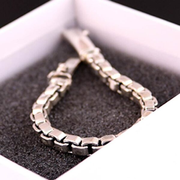 Silver Classic Box Chain Bracelet