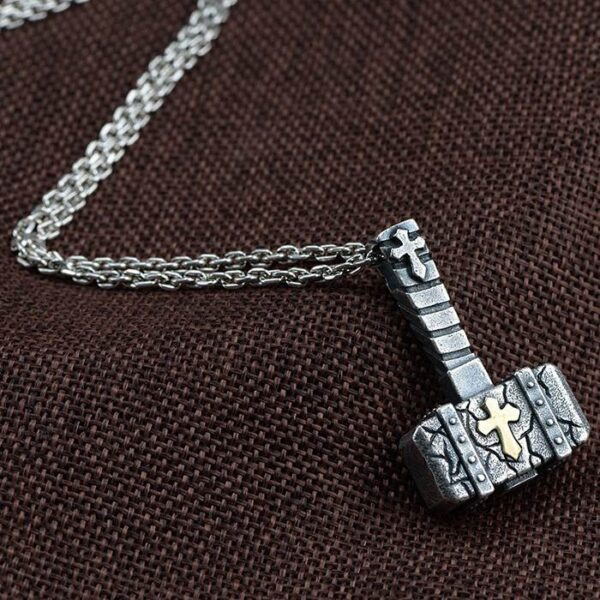 Silver Hammer Pendant Necklace