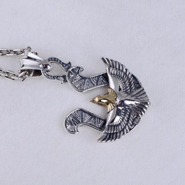Silver Horseshoe Eagle Pendant