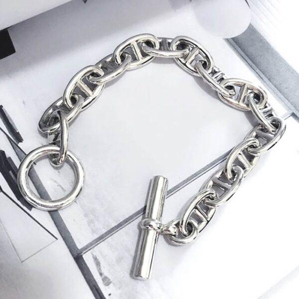 Silver Large Mariner Link Bracelet