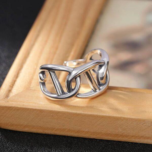 Silver Mariner Link Ring
