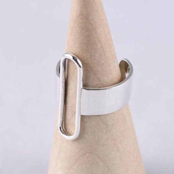 Silver Polished Paperclip Wrap Ring