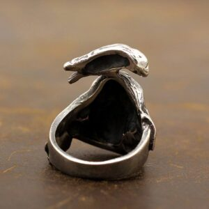 Silver Raven Skull Expendables Ring