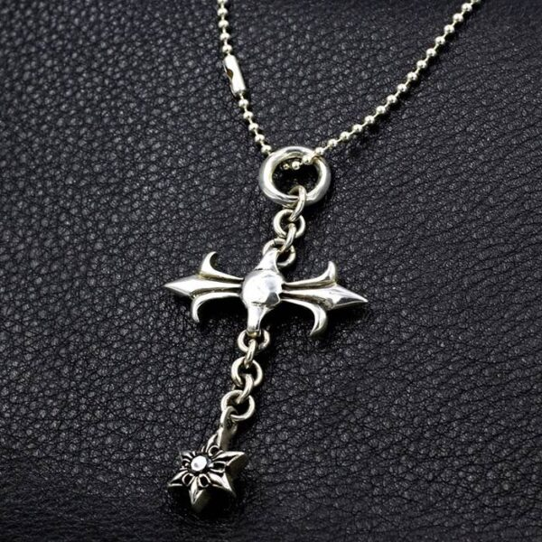Star Of David Cross Pendant Necklace