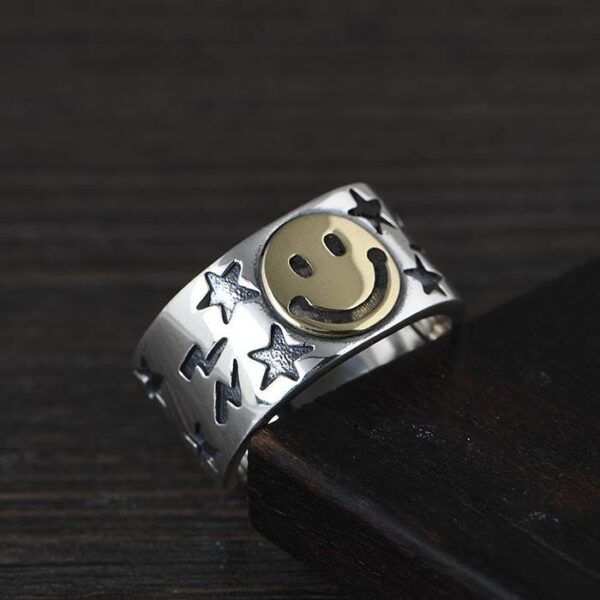Star Smiley Face Ring