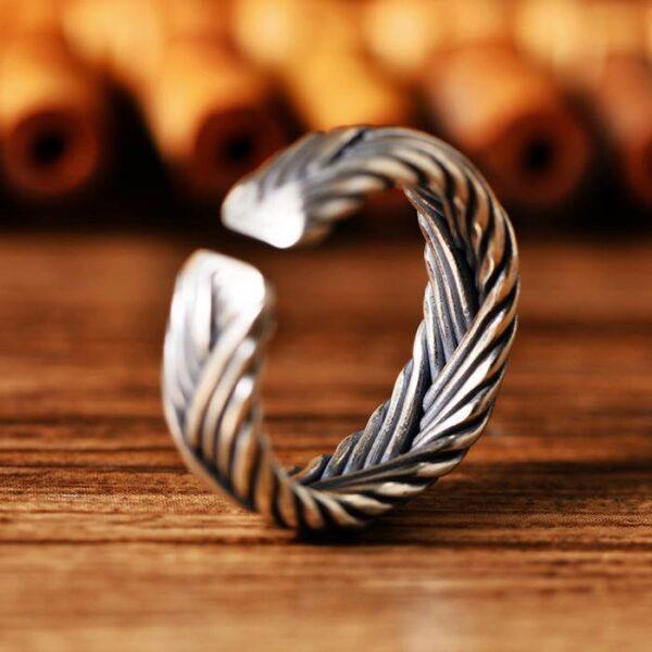 Sterling Silver Braided Cuff Ring